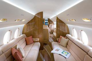 фото салона самолёта Dassault Falcon 7X