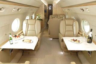 фото салона самолёта Gulfstream 550